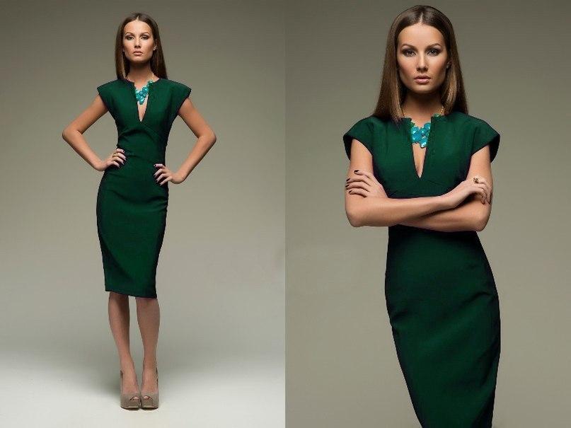 Платье зеленого цвета 1